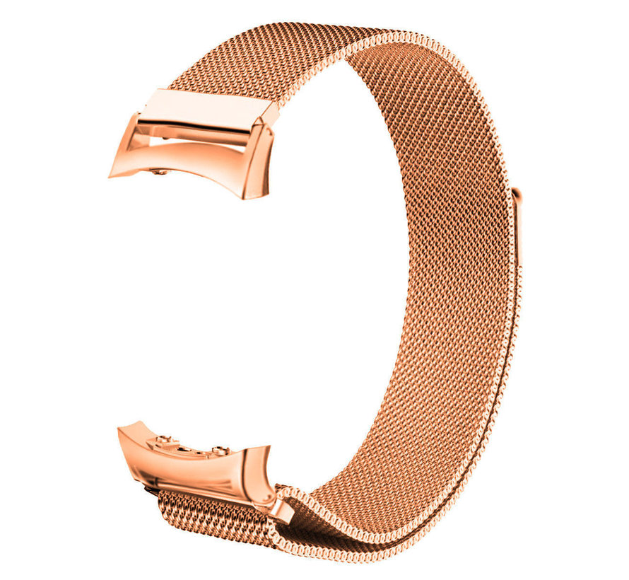Strap-it® Samsung Gear Fit 2 / Gear Fit 2 Pro Milanese band (rosé goud)