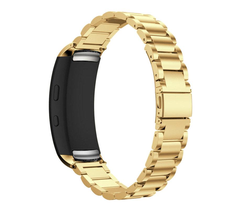Strap-it® Samsung Gear Fit 2 / Gear Fit 2 Pro stalen band (goud)