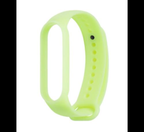 Strap-it® Strap-it® Xiaomi Mi band 5 siliconen bandje (lichtgevend geel)