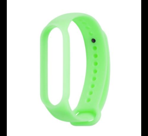 Strap-it® Strap-it® Xiaomi Mi band 5 siliconen bandje (lichtgevend groen)