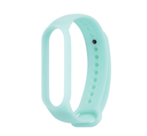 Strap-it® Strap-it® Xiaomi Mi band 5 siliconen bandje (lichtgevend blauw)