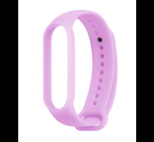 Strap-it® Strap-it® Xiaomi Mi band 5 siliconen bandje (lichtgevend paars)