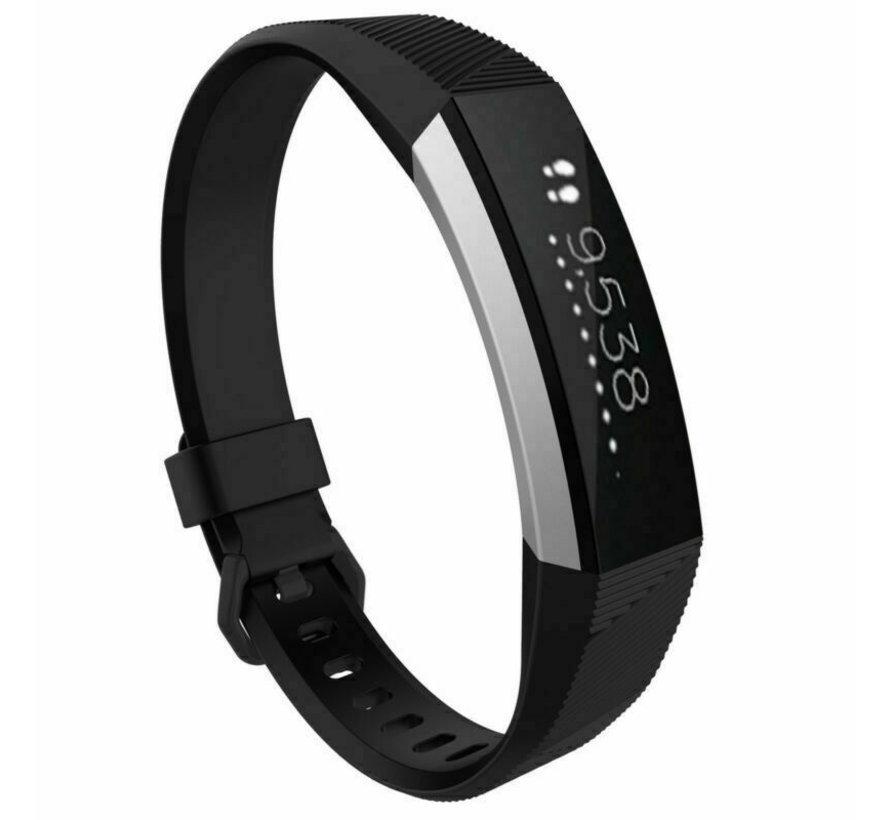 Strap-it® Fitbit Alta / Alta HR siliconen bandje (zwart)