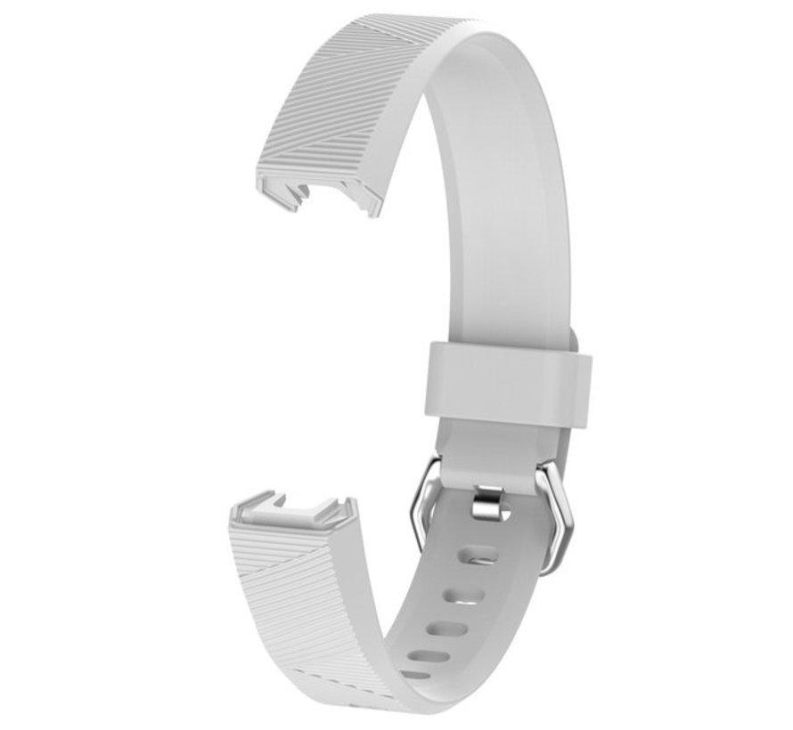 Strap-it® Fitbit Alta / Alta HR siliconen bandje (wit)