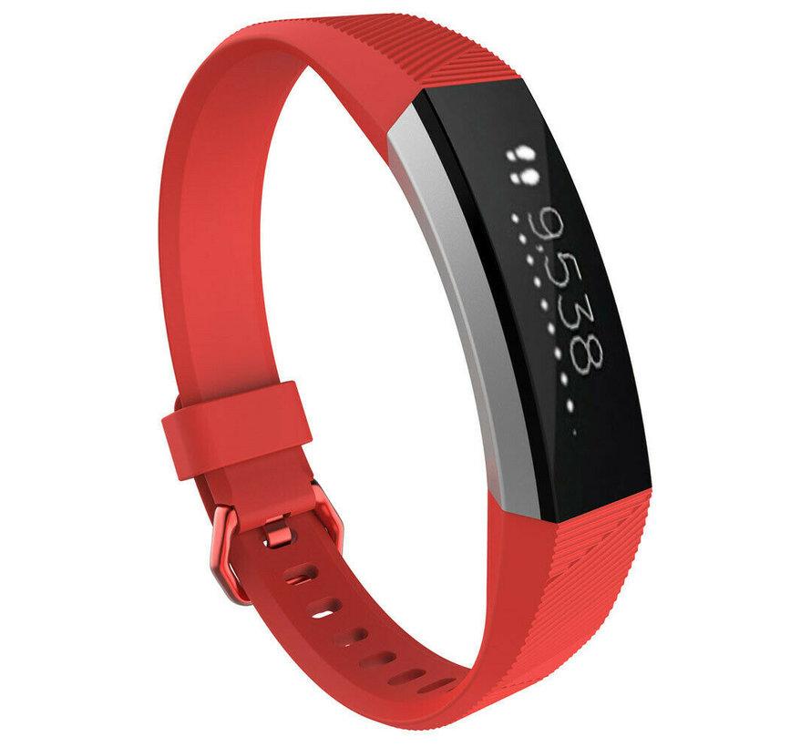 Strap-it® Fitbit Alta / Alta HR siliconen bandje (rood)