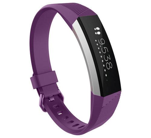 Strap-it® Strap-it® Fitbit Alta / Alta HR siliconen bandje (paars)