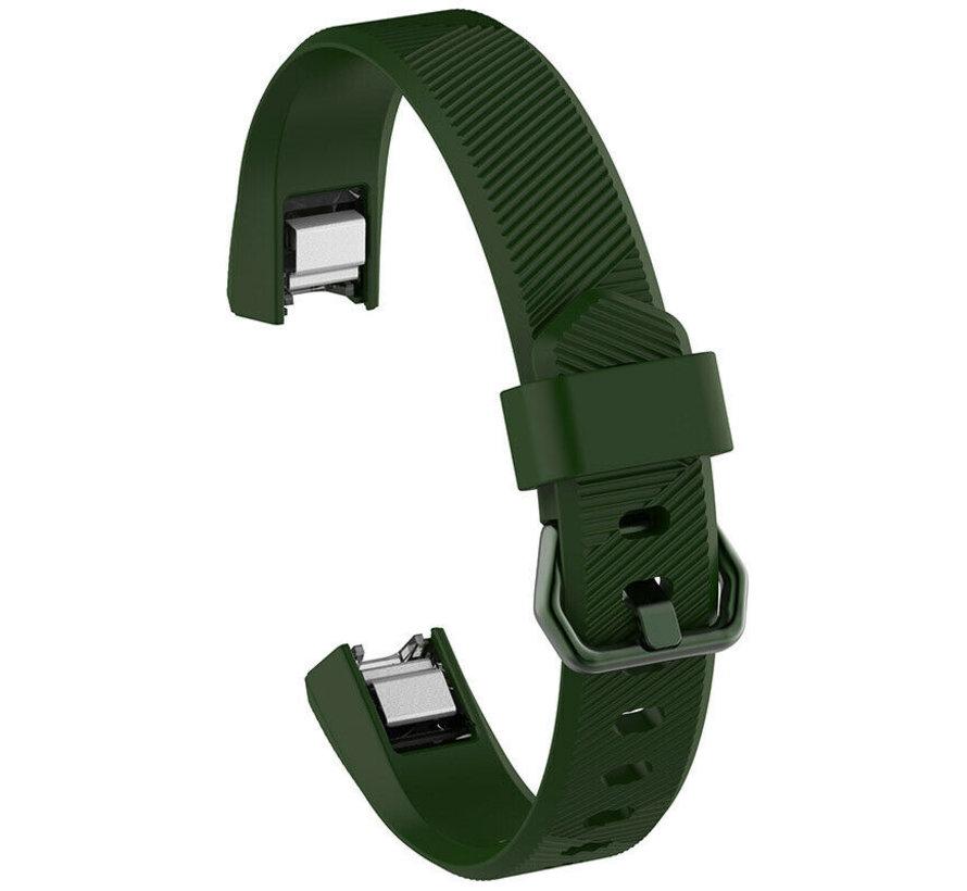 Strap-it® Fitbit Alta / Alta HR siliconen bandje (legergroen)