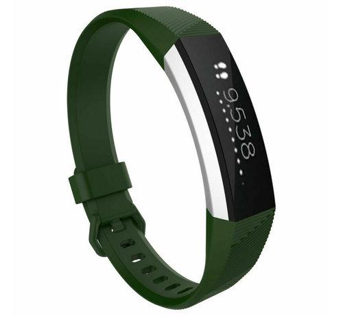 Strap-it® Strap-it® Fitbit Alta / Alta HR siliconen bandje (legergroen)