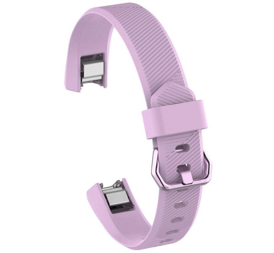 Strap-it® Fitbit Alta / Alta HR siliconen bandje (lavendel)