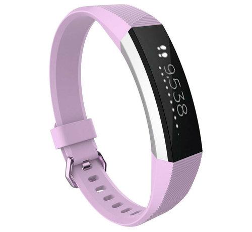 Strap-it® Strap-it® Fitbit Alta / Alta HR siliconen bandje (lavendel)