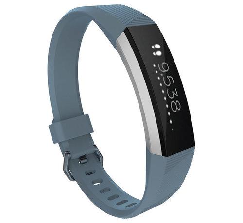 Strap-it® Strap-it® Fitbit Alta / Alta HR siliconen bandje (grijsblauw)