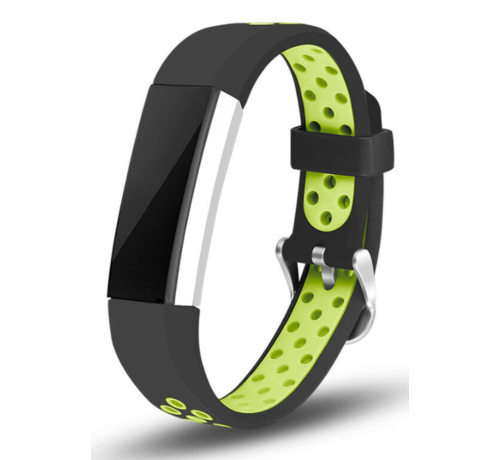 Strap-it® Strap-it® Fitbit Alta / Alta HR sport bandje (zwart/groen)