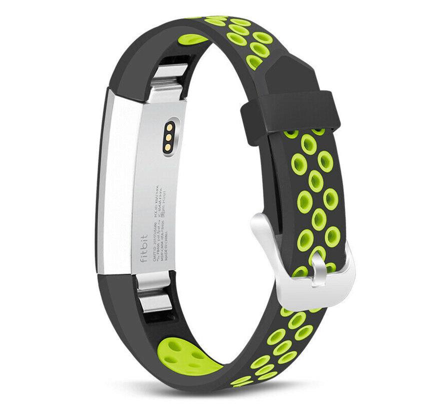 Strap-it® Fitbit Alta / Alta HR sport bandje (zwart/groen)