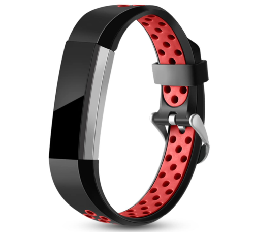 Strap-it® Strap-it® Fitbit Alta / Alta HR sport bandje (zwart/rood)
