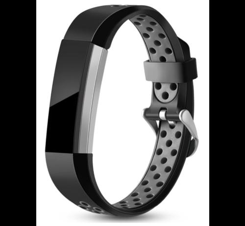 Strap-it® Strap-it® Fitbit Alta / Alta HR sport bandje (zwart/grijs)