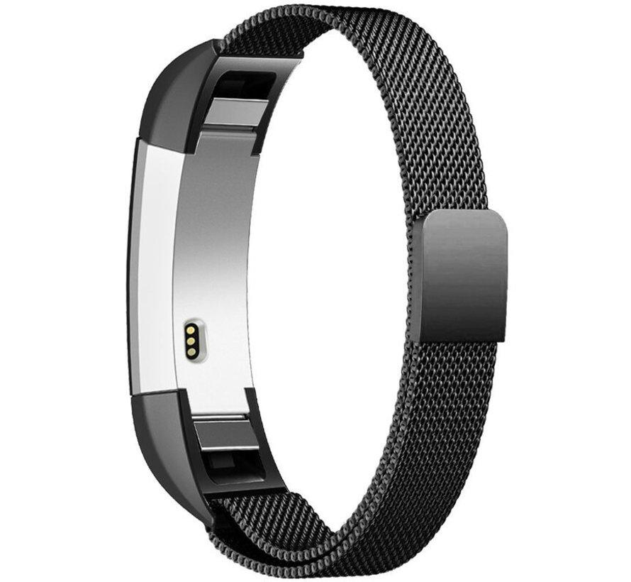 Strap-it® Fitbit Alta / Alta HR Milanese band (zwart)