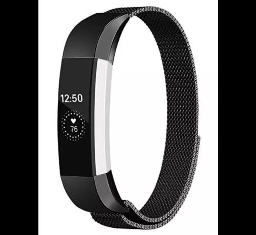 Strap-it® Strap-it® Fitbit Alta / Alta HR Milanese band (zwart)