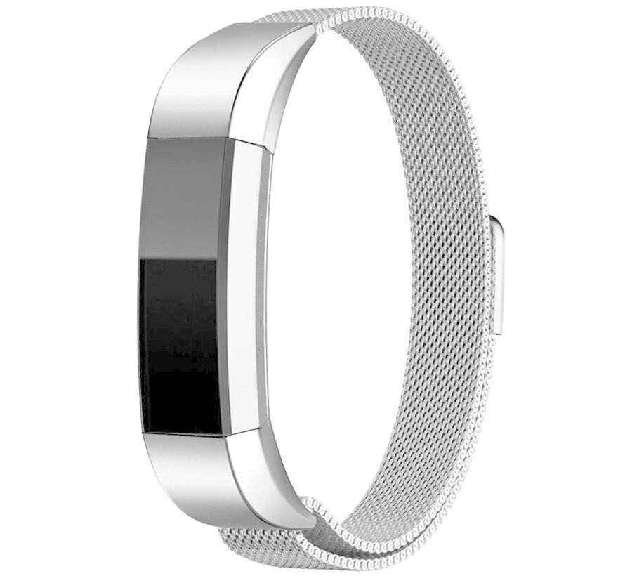 Strap-it® Fitbit Alta / Alta HR Milanese band (zilver)