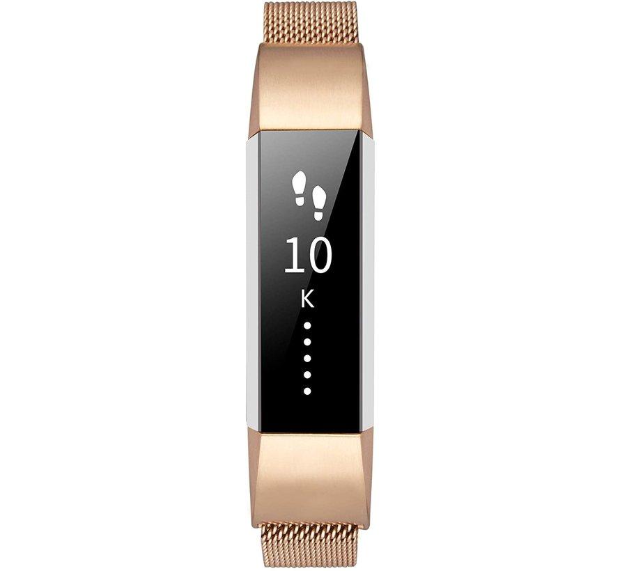 Strap-it® Fitbit Alta / Alta HR Milanese band (rosé goud)