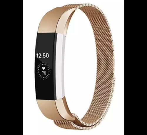 Strap-it® Strap-it® Fitbit Alta / Alta HR Milanese band (rosé goud)