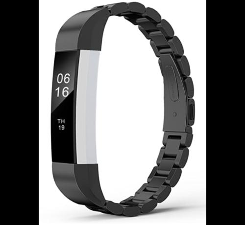 Strap-it® Strap-it® Fitbit Alta / Alta HR stalen bandje (zwart)
