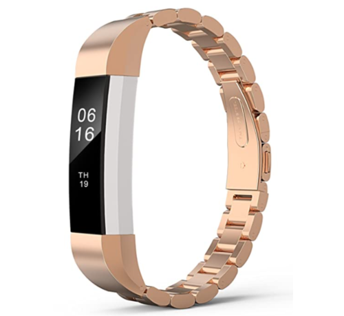 Strap-it® Strap-it® Fitbit Alta / Alta HR stalen bandje (rosé goud)