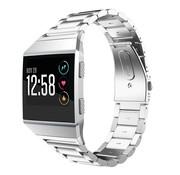 Strap-it® Fitbit Ionic stalen bandje (zilver)