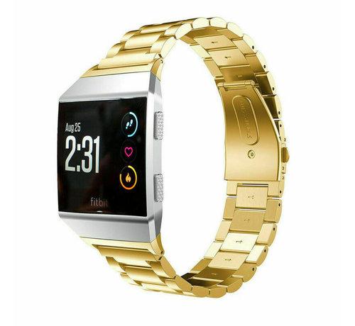 Strap-it® Strap-it® Fitbit Ionic stalen bandje (goud)