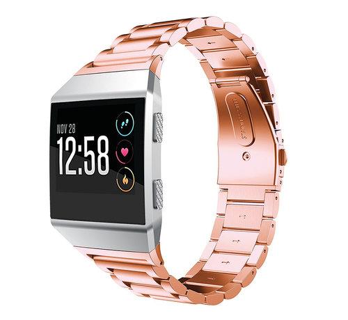 Strap-it® Strap-it® Fitbit Ionic stalen bandje (rosé goud)