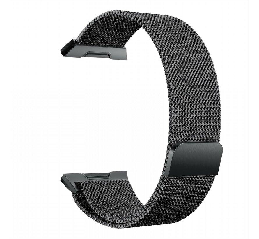 Strap-it® Fitbit Ionic Milanese band (zwart)