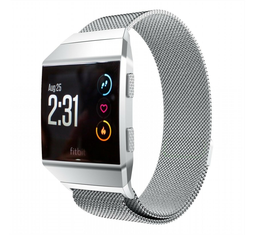 Strap-it® Fitbit Ionic Milanese band (zilver)