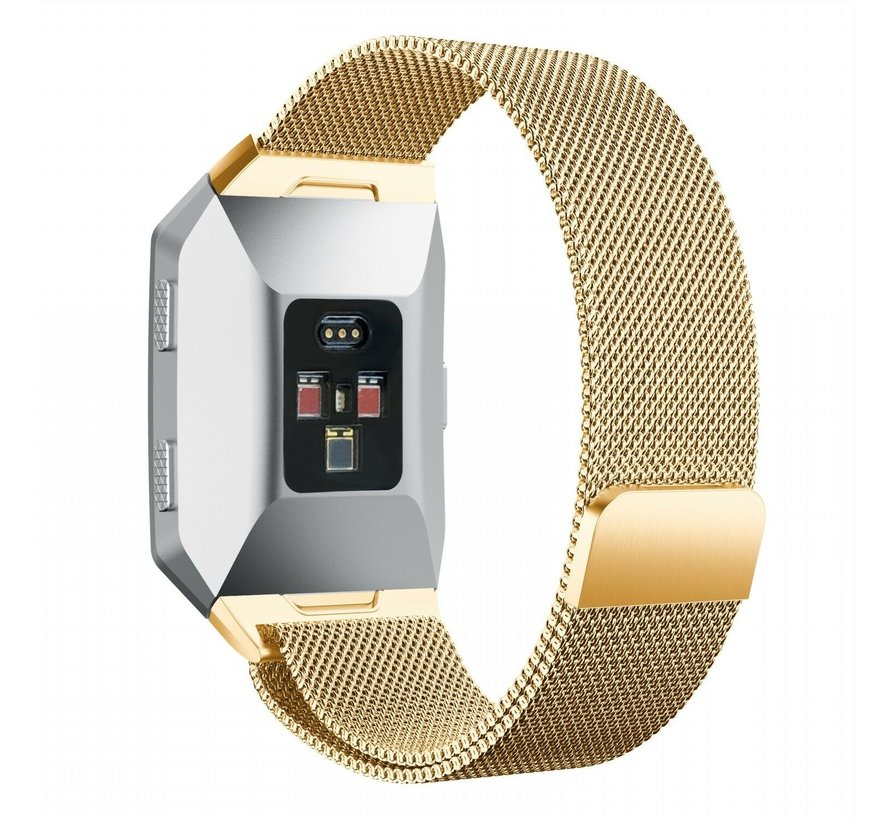 Strap-it® Fitbit Ionic Milanese band (goud)