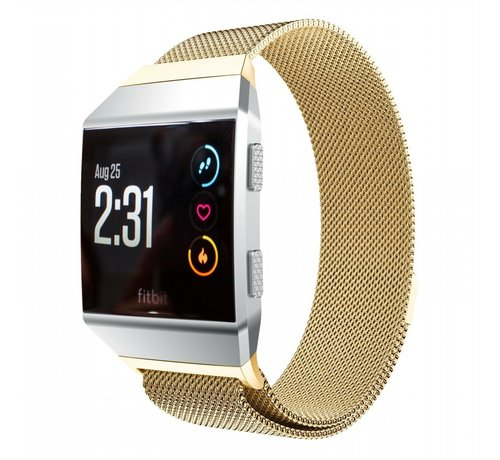 Strap-it® Strap-it® Fitbit Ionic Milanese band (goud)