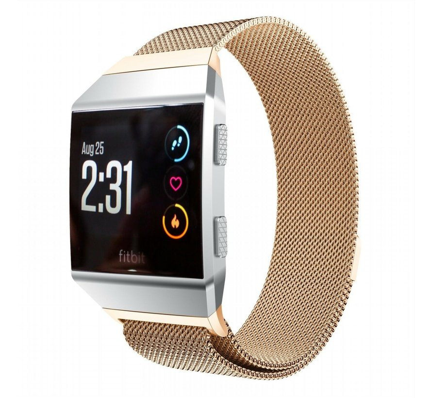 Strap-it® Fitbit Ionic Milanese band (rosé goud)