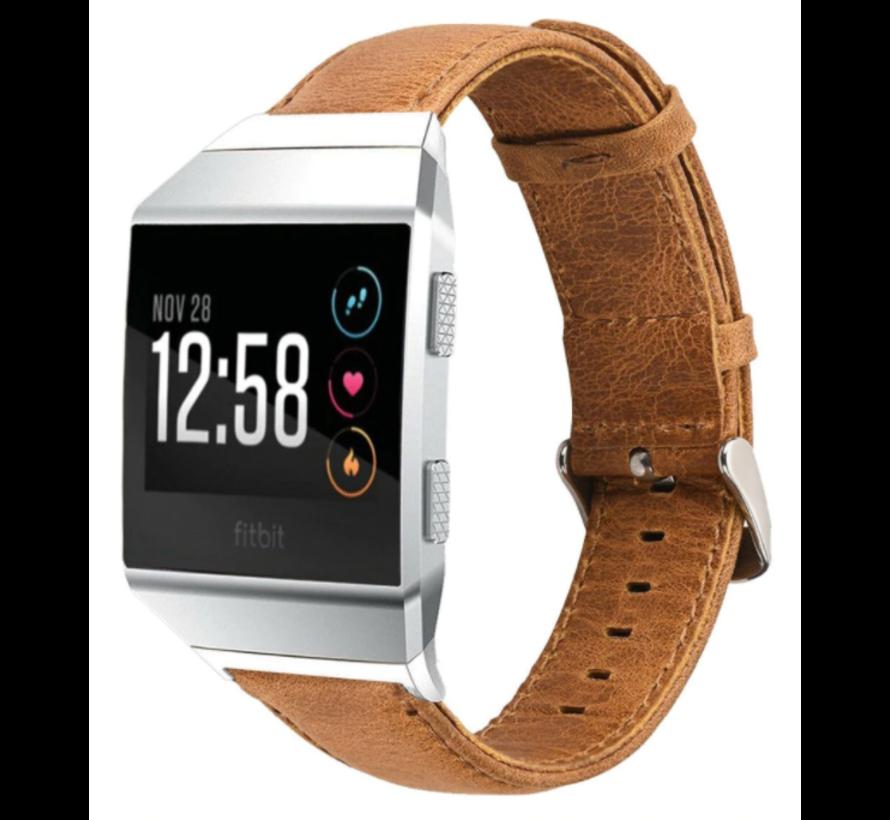 Strap-it® Fitbit Ionic lederen bandje (bruin)