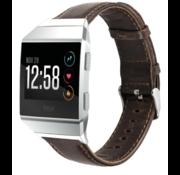 Strap-it® Fitbit Ionic lederen bandje (donkerbruin)