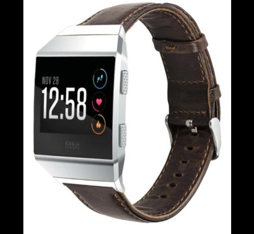 Strap-it® Strap-it® Fitbit Ionic lederen bandje (donkerbruin)