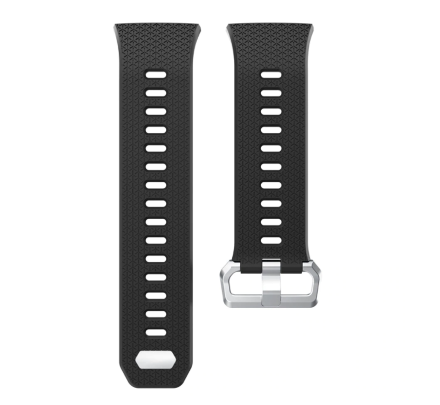 Strap-it® Fitbit Ionic siliconen bandje (zwart)
