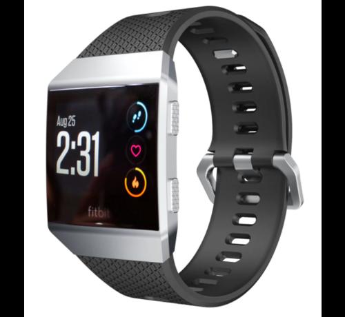 Strap-it® Strap-it® Fitbit Ionic siliconen bandje (zwart)