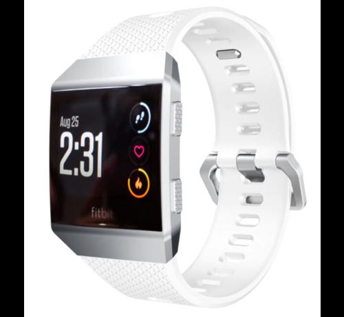Strap-it® Strap-it® Fitbit Ionic siliconen bandje (wit)