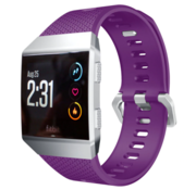 Strap-it® Fitbit Ionic siliconen bandje (paars)