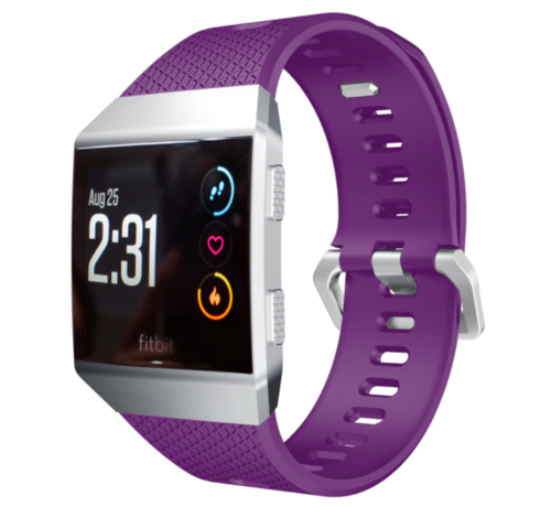 Strap-it® Strap-it® Fitbit Ionic siliconen bandje (paars)