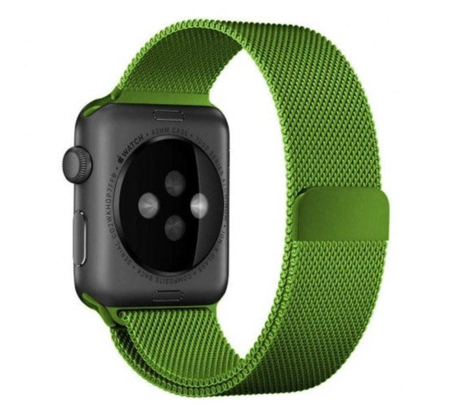 Strap-it® Apple Watch Milanese  band (lichtgroen)