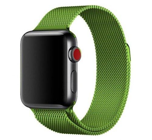 Strap-it® Strap-it® Apple Watch Milanese  band (lichtgroen)