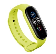 Strap-it® Xiaomi Mi band 5 siliconen bandje (lime)