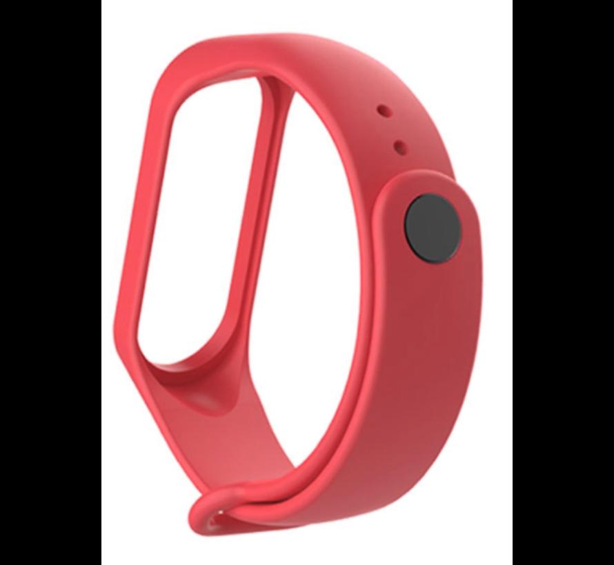 Strap-it® Xiaomi Mi band 5 siliconen bandje (rood)