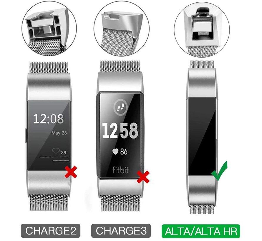 Strap-it® Fitbit Alta / Alta HR sport bandje (zwart/rood)