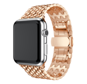 Strap-it® Apple Watch stalen draak band (rosé goud)