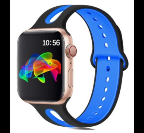 Strap-it® Strap-it® Apple Watch sport duo band (zwart/blauw)