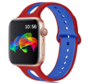 Strap-it® Apple Watch sport duo band (rood/blauw)